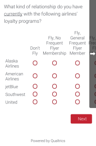 Delta Air Line Survey about SkyMiles May 2015 (13)
