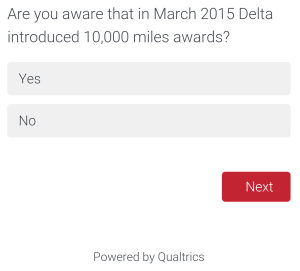 Delta Air Line Survey about SkyMiles May 2015 (8)