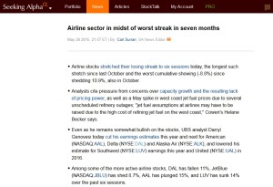 seeking alpha report on airlines