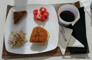 DeltaONE meal in Delta Skyclub pre flight ATL Delta Points blog 2