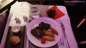 Virgin Atlantic Dining Upper Class Atlanta to Manchester Delta Points blog (3)
