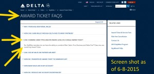 updated delta-com page about combine award types for skymiles