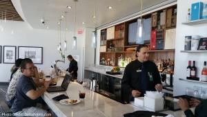 Centurion Club Miami bar right of entrance delta points blog
