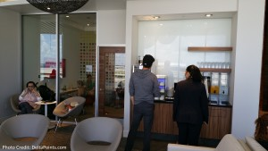 Centurion Club Miami right of entrance coffee and kids room delta points blog