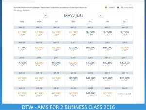 DTW TO AMS 2016