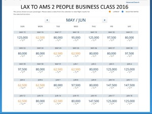 LAX TO AMS 2016
