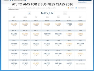 atl TO AMS 2016