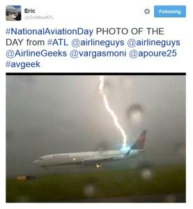 lightning strikes delta jet in atl