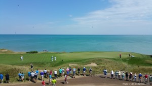 upsairs view of 16th green sarazen suite spg moments 2015 PGA Championship Whistling Straits Kohler Wisconsin delta points blog