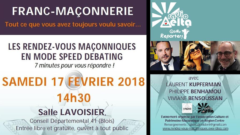 Le 1er « speed-debating » maçonnique, c'est demain, c'est à Blois, en direct sur RadioDelta !