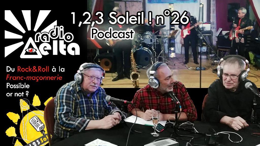 1,2,3, Soleil ! #26 – 29 mars 2019 – Podcast de l'émission « Soirée Rock&Roll et autres joyeusetés avec Fernand Cafiero & Jean-Pierre Vic »