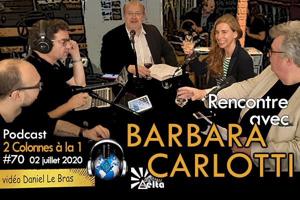 2 Colonnes à la 1 – 70 – « Barbara Carlotti – 29 juin 2020 – Podcast