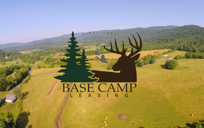 Base Camp Leasing screenshot of farms and forested hillsides