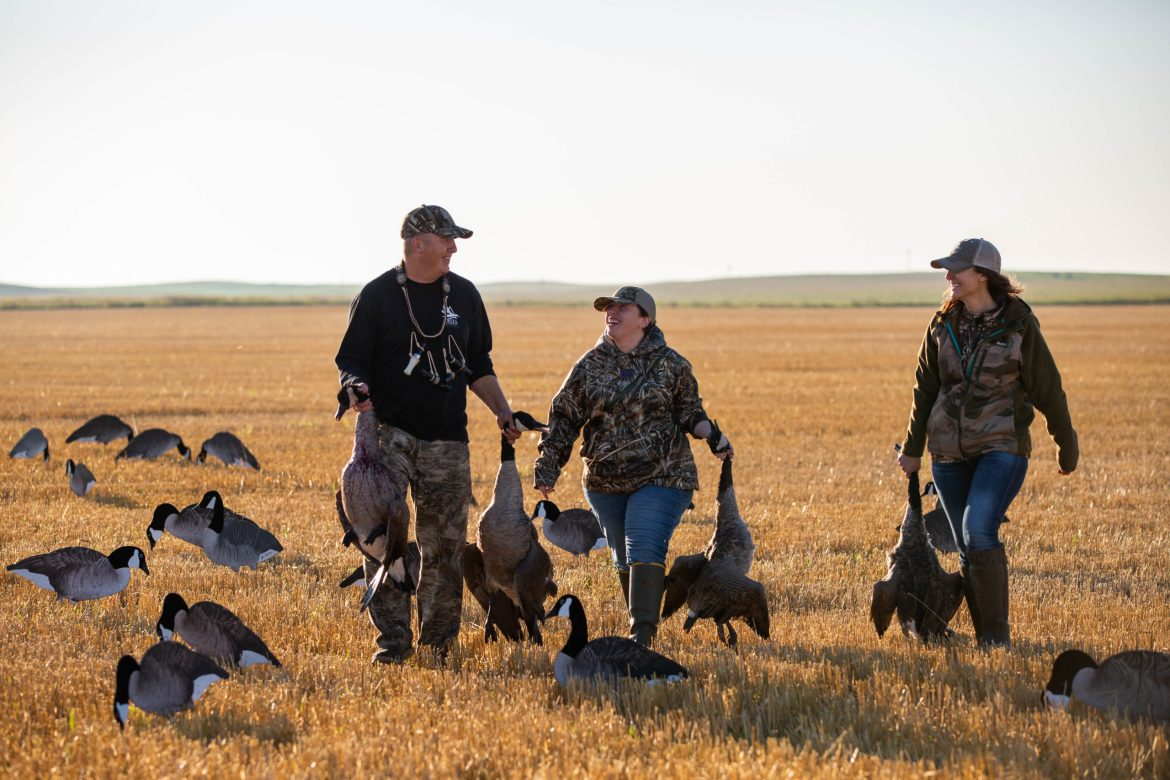 first hunts with canadian geese Delta Waterfowl and social media good and the bad