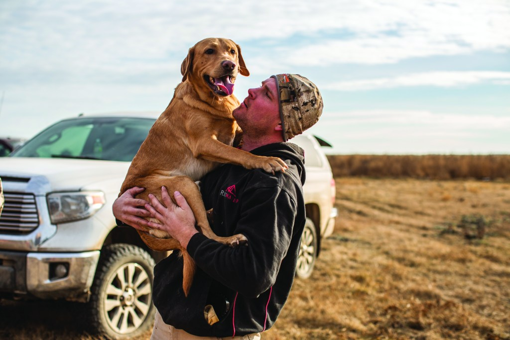 hunters and dogs share a special bond.