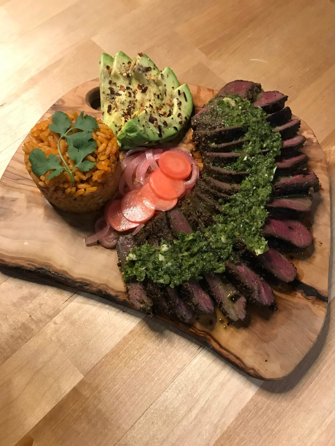 carne asada goose a meant and cheese board of wild game, cheese, avacado and veg that will keep you coming back for more