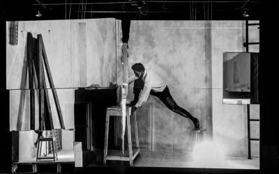 Failing to levitate in my studio