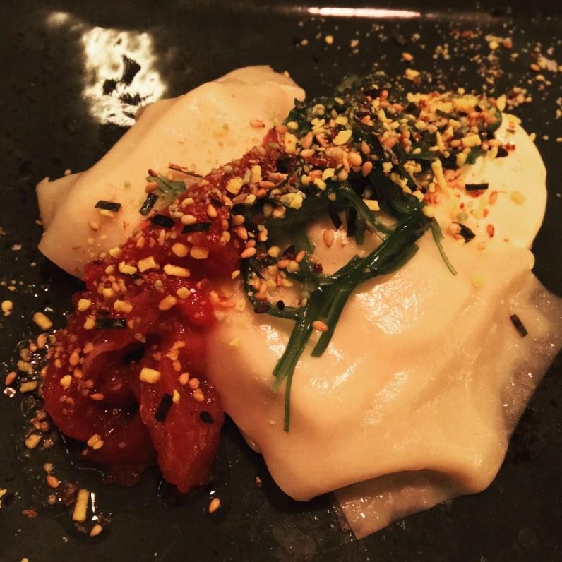 canelones de atun y wakame