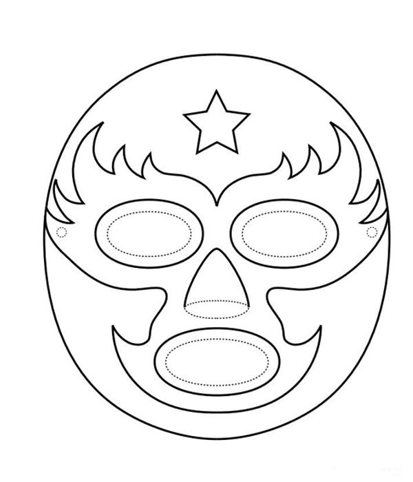 Mascaras De Luchadores Para Colorear Páginas Para Colorear