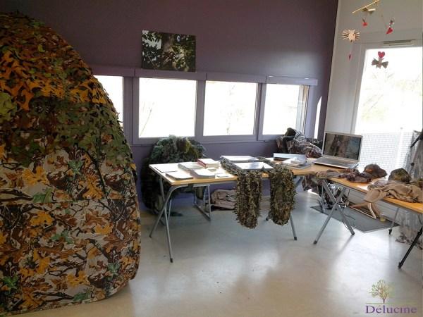 Tente, documentation et habillement