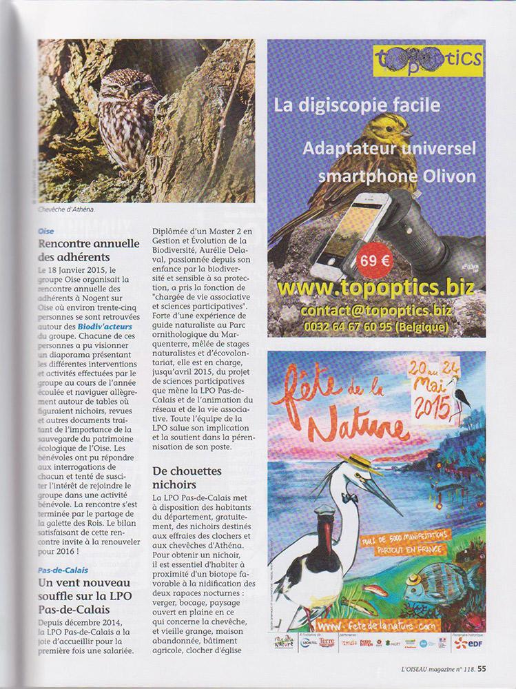 L'Oiseau Mag N°118 – Printemps 2015