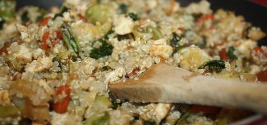 Tofu Quinoa Veggie Stir-Fry Recipe