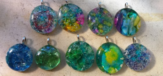 cracked glass marble pendant jewelry