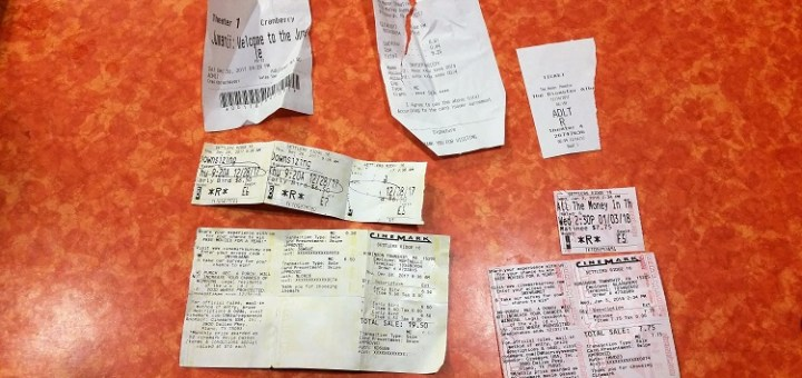 my moviepass review ticket stubs