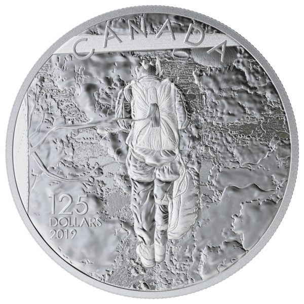 2019 $125 Fine Silver Coin - 75th Anniversary of the Normandy Campaign Operation Tonga Reverse