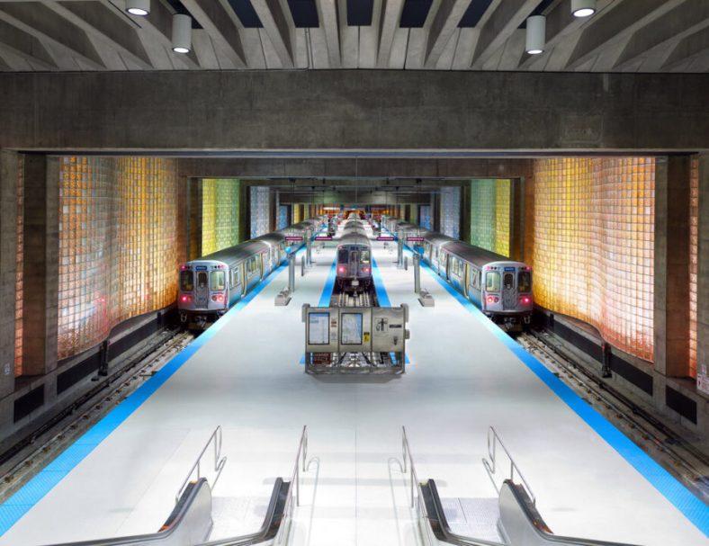 O'Hare CTA Station, Chicago, Illinois, EE.UU.