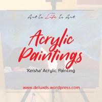'Keisha' Acrylic Painting