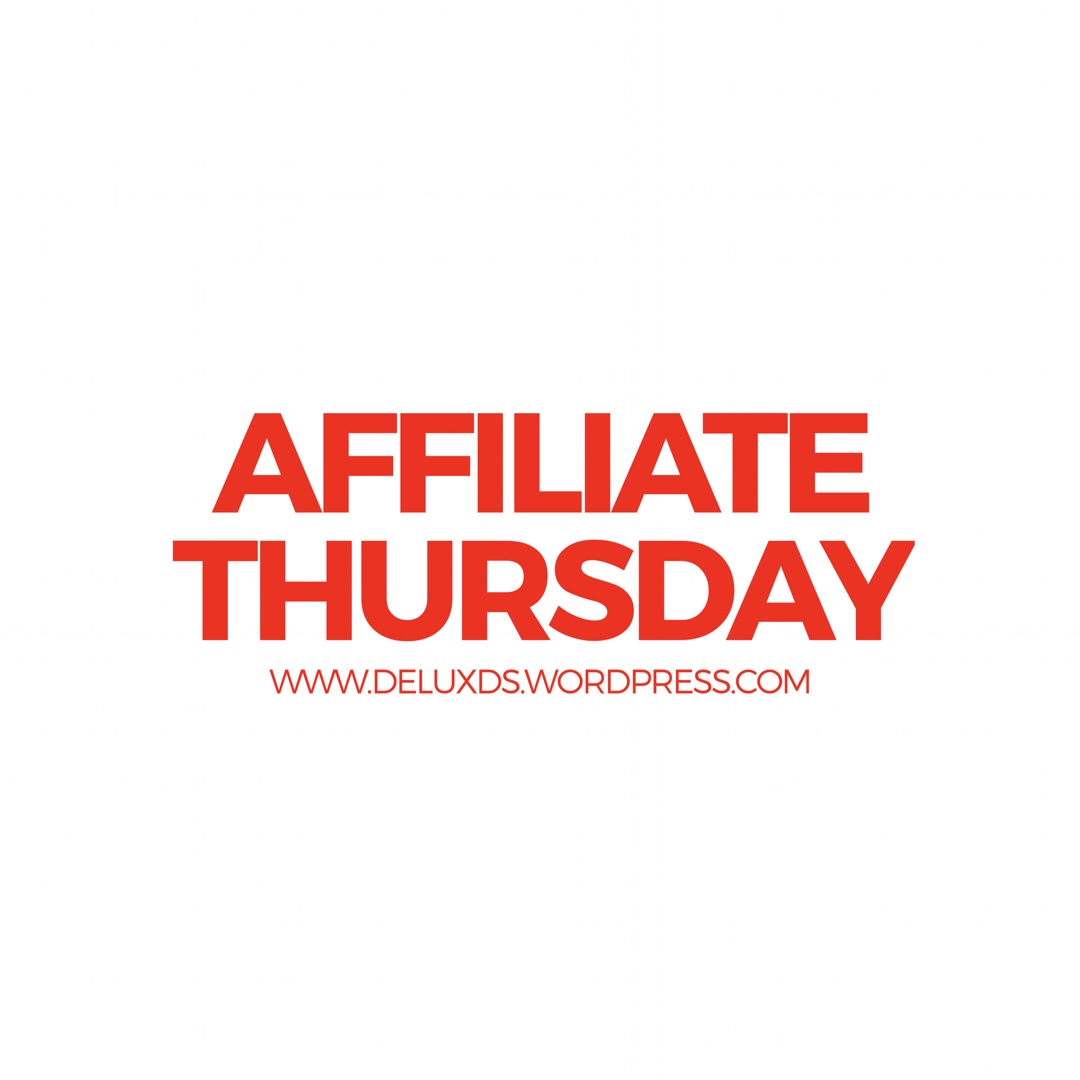 Affiliate Thursday Blogging with DE