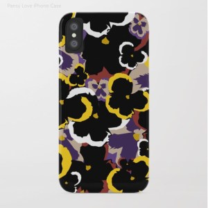 Pansy Love iPhone Case designed by Visual Artist Keara Douglas of Delux Designs (DE), LLC.
