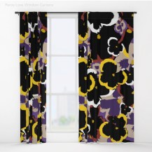 Pansy Love Blackout Curtains