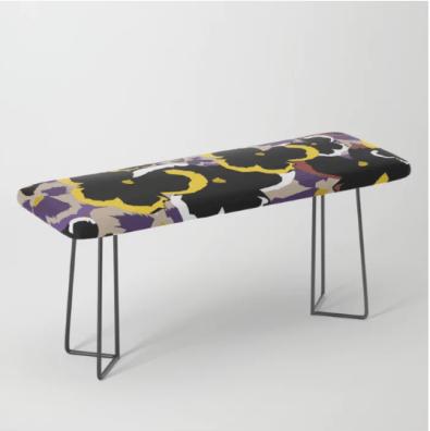 Pansy Love Bench designed by Visual Artist Keara Douglas of Delux Designs (DE), LLC