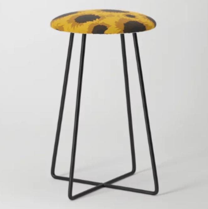 Sunflower Love Counter Stool designed by Visual Artist