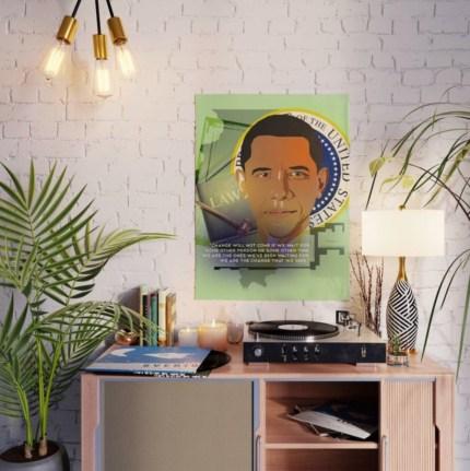 President Obama Poster designed by Visual Artist Keara Douglas of Delux Designs (DE), LLC