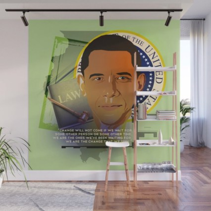 President Obama Wall Mural designed by Visual Artist Keara Douglas of Delux Designs (DE), LLC