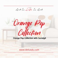 New 'Orange Pop' Collection with Society6