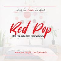New 'Red Pop' Collection with Society6