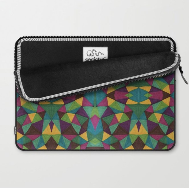 Living Single Laptop Sleeve painted by Visual Artist Keara Douglas of Delux Designs (DE), LLC.