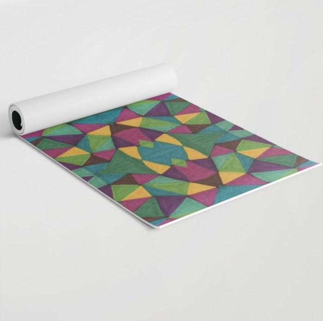 Living Single Yoga Mat painted by Visual Artist Keara Douglas of Delux Designs (DE), LLC
