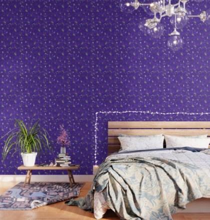 Larkspur Love Wallpaper designed by Visual Artist Keara Douglas of Delux Designs (DE), LLC