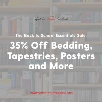 Back to School Essentials Sale with Society6