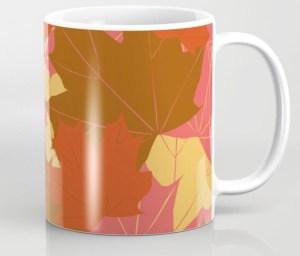 Leaf Love Coffee Mug designed by Visual Artist Keara Douglas of Delux Designs (DE), LLC