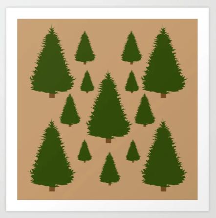 Christmas Tree Art Print designed by Visual Artist Keara Douglas of Delux Designs.