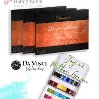 Da Vinci Watercolors and Hahnemühle Paper Giveaway with Doodlewash