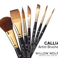 Willow Wolfe Inc. Callia Artist Brushes International Giveaway with Doodlewash