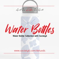 New Water Bottle Collection with Society6