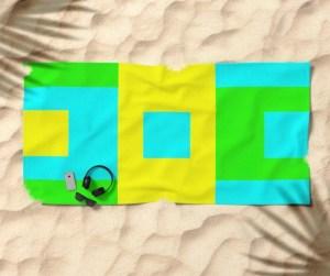 Summer Square Beach Towel designed by Visual Artist Keara Douglas of Delux Designs (DE), LLC
